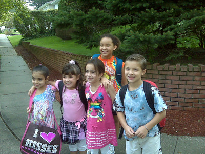 First day of 3rd grade.  Sept. 2010.