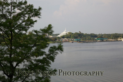 View from room at the Grand Floridian -- Space Mountain (at the Magic Kingdom) in the distance.