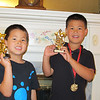 We made our first trip to Michigan in early June to watch the boys while Katie and Chris went to Las Vegas for a medical convention.  The boys were is sports camp for the week, so we didn't take many pictures, but here is a picture of Jonathan and Alex with their soccer trophies.