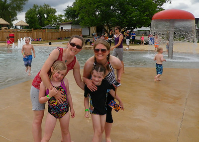 Awesome splash pad at the safari
