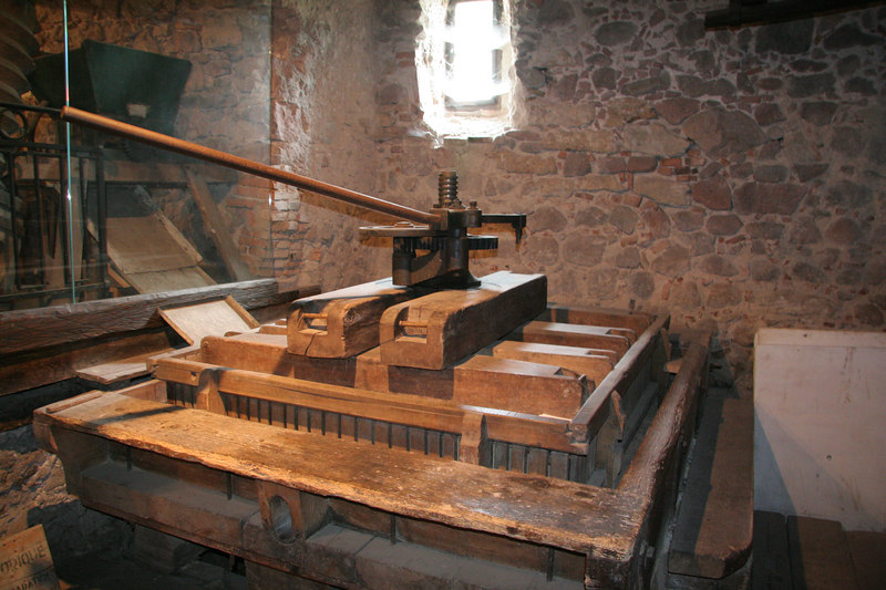 Wine Press in Riquewihr museum