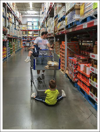 Shopping at Sam's club with Papa