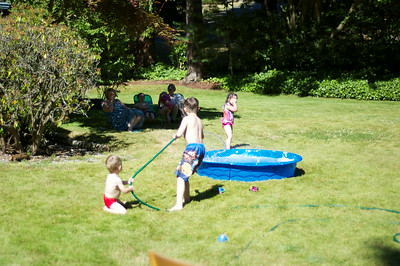 Paddle pool play time
