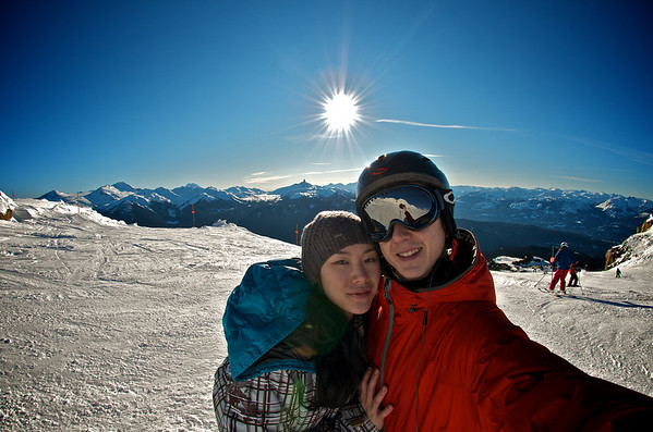 An awesome sunny weekend of skiing & boarding up at Whistler. February 2012.