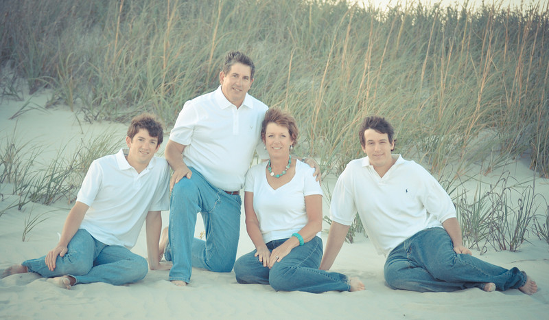 """Sunset Beach, North Carolina is a  great place for beach portraits.  Bryce Lafoon Photography captures a family on vacation at Sunset Beach, NC.   <a href=""""http://www.brycelafoonphotography.com"""">http://www.brycelafoonphotography.com</a>"""