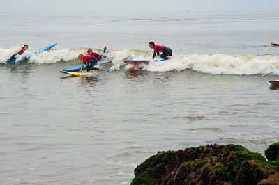 Karen bought the boys surfing lessons in Capitola for Christmas