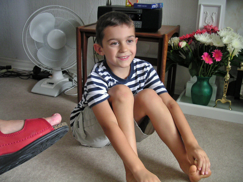 Philip -- relaxing at his nan's