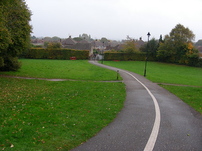 One of the paths through The Lawns, Swindon