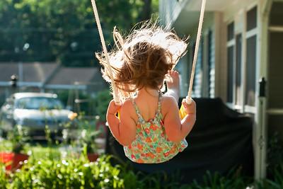 Swing set fun May 2010