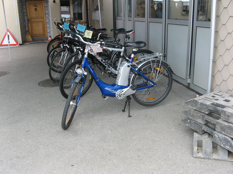 Bikes in Switzerland - this one with electric motor - are popular