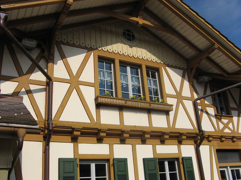 Züziwil's old trainstation building - now just being used as a house to live in - station has been automated