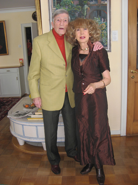 Papa and Regina ready to go to a 90th birthday luncheon