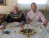 My uncle Walter Ziegle (my mother's brother-in-law) and his son Christoph enjoing Regina's fine cuisine