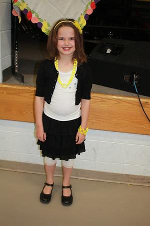2012 Feb Sydnee Singing 2nd Grade