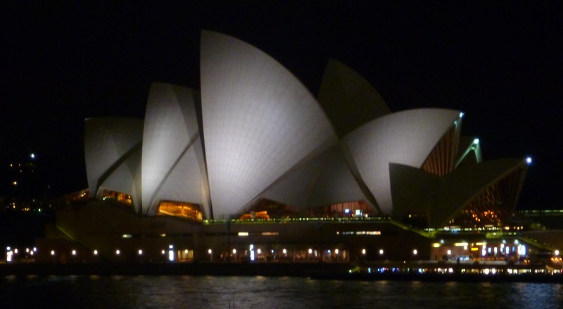 Sydney Opera House from the roof of the Contemporary Art Museum