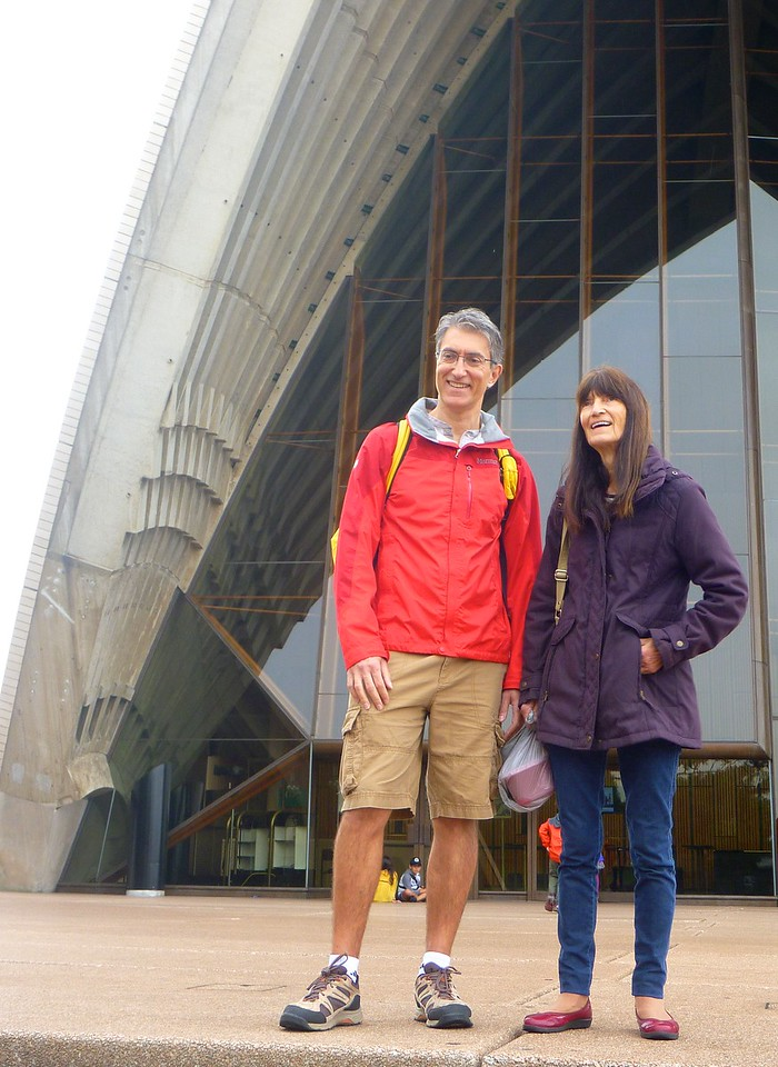 Simon and Heidi at the Opera House