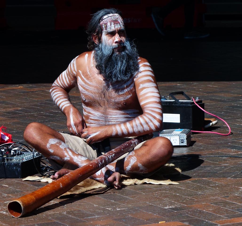 Sydney - Aborigine at Circular Quay