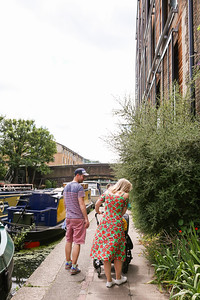 Anita, Roger, and the girls along the canal