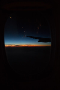 On the plane to the UK