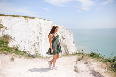 Caroline at the White Cliffs of Dover