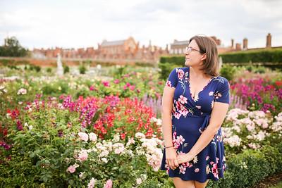 Sarah at Hampton Court Palace