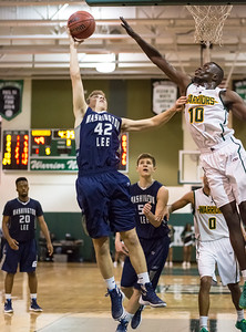 Wakefield vs Washington-Lee Boys Basketball (28 Dec 2015)