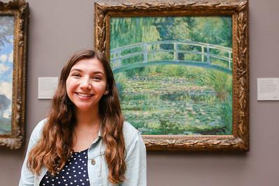 Caroline in front of Monet