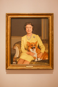 Young Queen Elizabeth II at the National Portrait Gallery