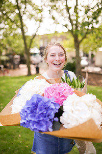 Mackenzie at the Columbia Road Flower Market