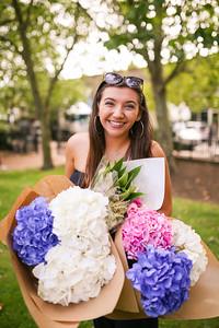 Caroline at the Columbia Road Flower Market