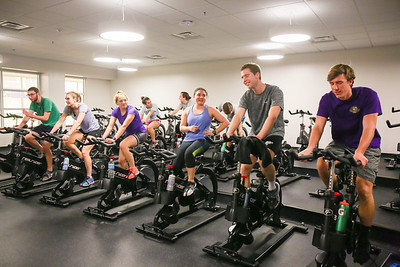 Triathalon Club participants practice five days a week on all three parts of the sport