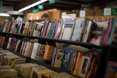 In addition to great American classics, the book fair features large sections of World Literature avaiable in several different languages
