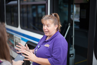 Tracey Caplinger has been driving for two years and enjoys getting to know her regulars