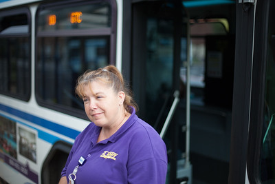 Tracey Caplinger enjoys the city routes because they are more laid back