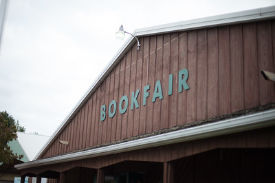 The book fair takes place in two large warehouses connected with a tunnel.