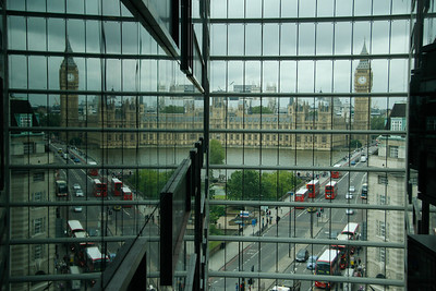 view from the hotel of Big Ben and Parliament