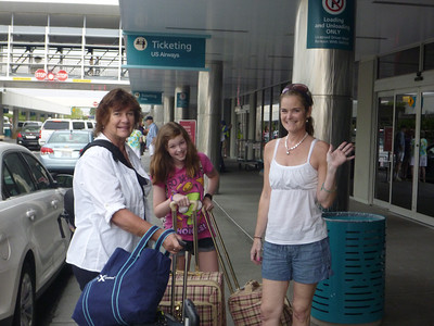 Saying goodbye to Mom at the Pensacola airport