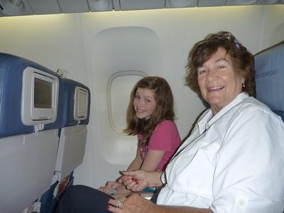 overnight to London, 8 hour flight