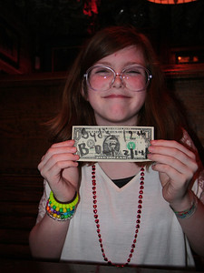 her birthday dollar Judi and Harry have had dollars up there since 1987
