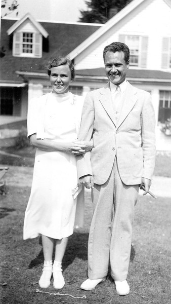Sylvia and Ed, October, 1938