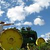 15. Rick on John Deere tractor