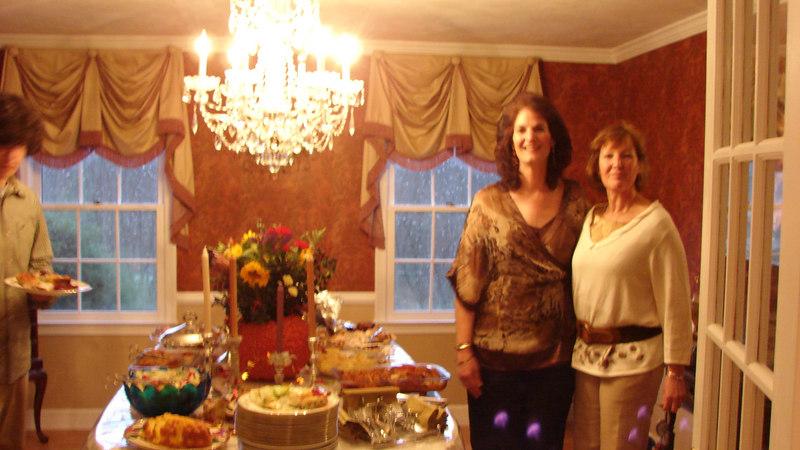 ARTHUR BOSEN, Cherie Perdikis, Barbara Bosen, ready to fill their plates