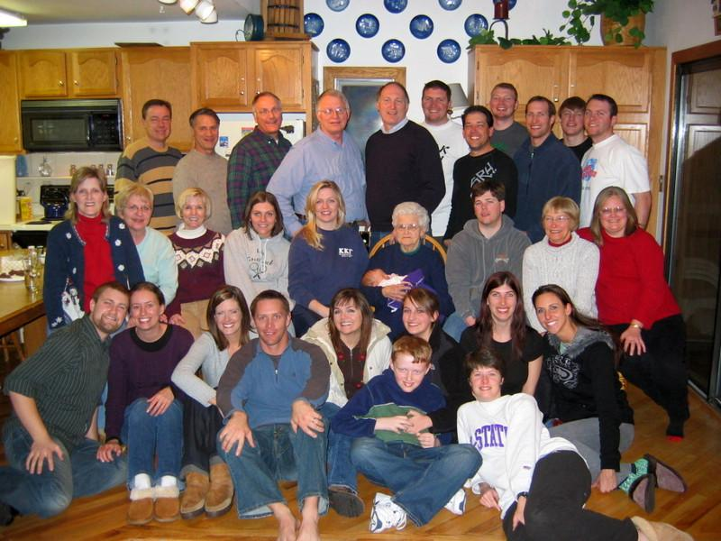 Can you find me in all these 31 Keller relatives?<br />   I'll give you a hint, I'm closest to<br />           the 89 year old.