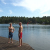 THE COUSINS IN A DEEP CONVERSATION ABOUT THE WORLD'S PROBLEMS....BUT, THEN THEY DECIDE TO TAKE A SWIM INSTEAD....
