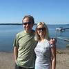 Grampie and Linda at the Swedish Beach.