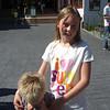 OUR ADORABLE GRANDDAUGHTER, DENIECE...AND ALEX HIDING HIS EYES...