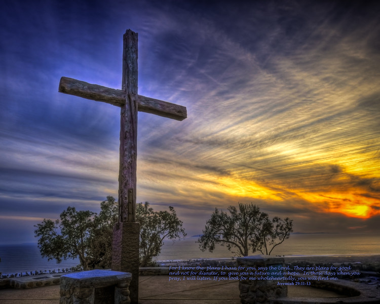Ventura Cross at sunset