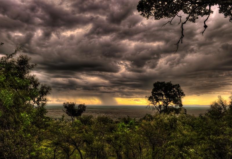 Rain Showers over the Massai Mara, Kenya, Africa