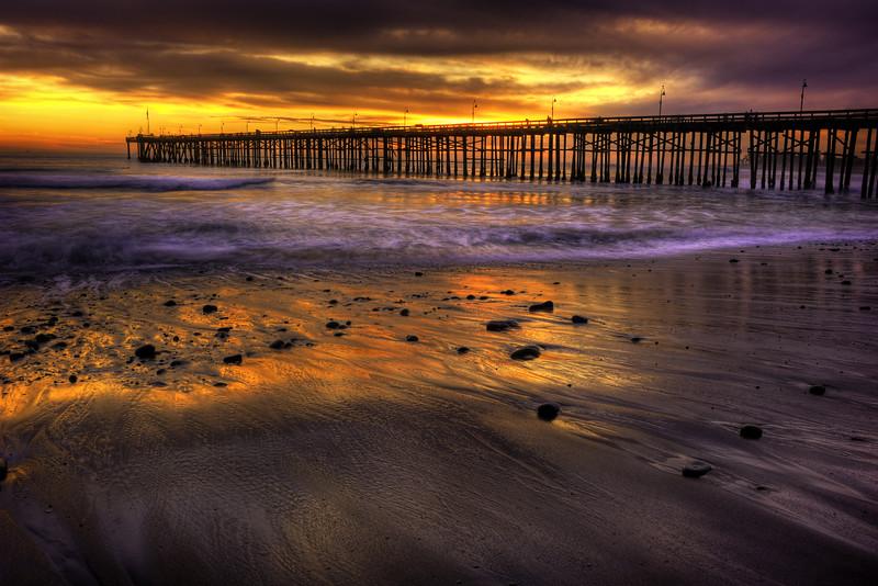 Ventura Pier at Sunset, Ventura, California