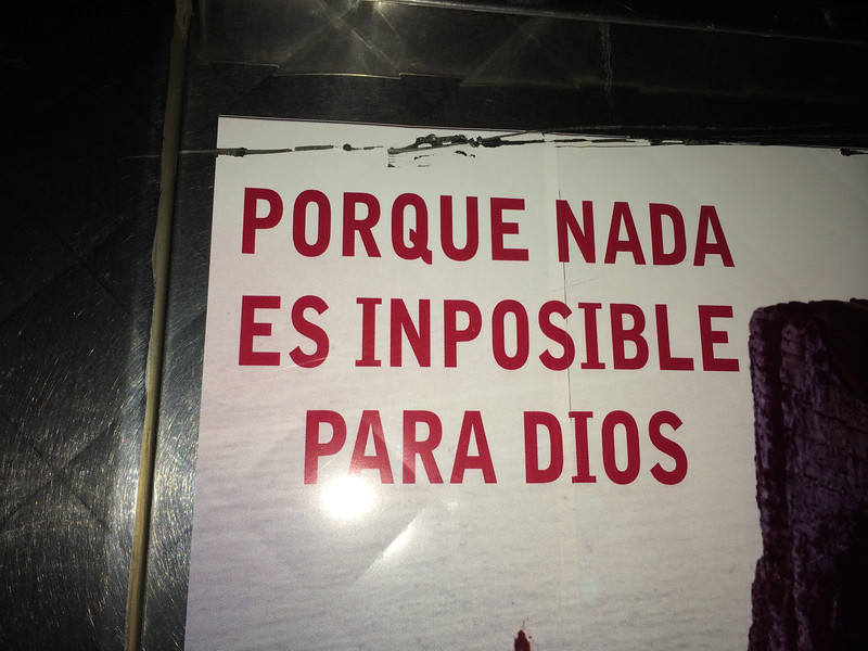 """For nothing will be impossible with God."""